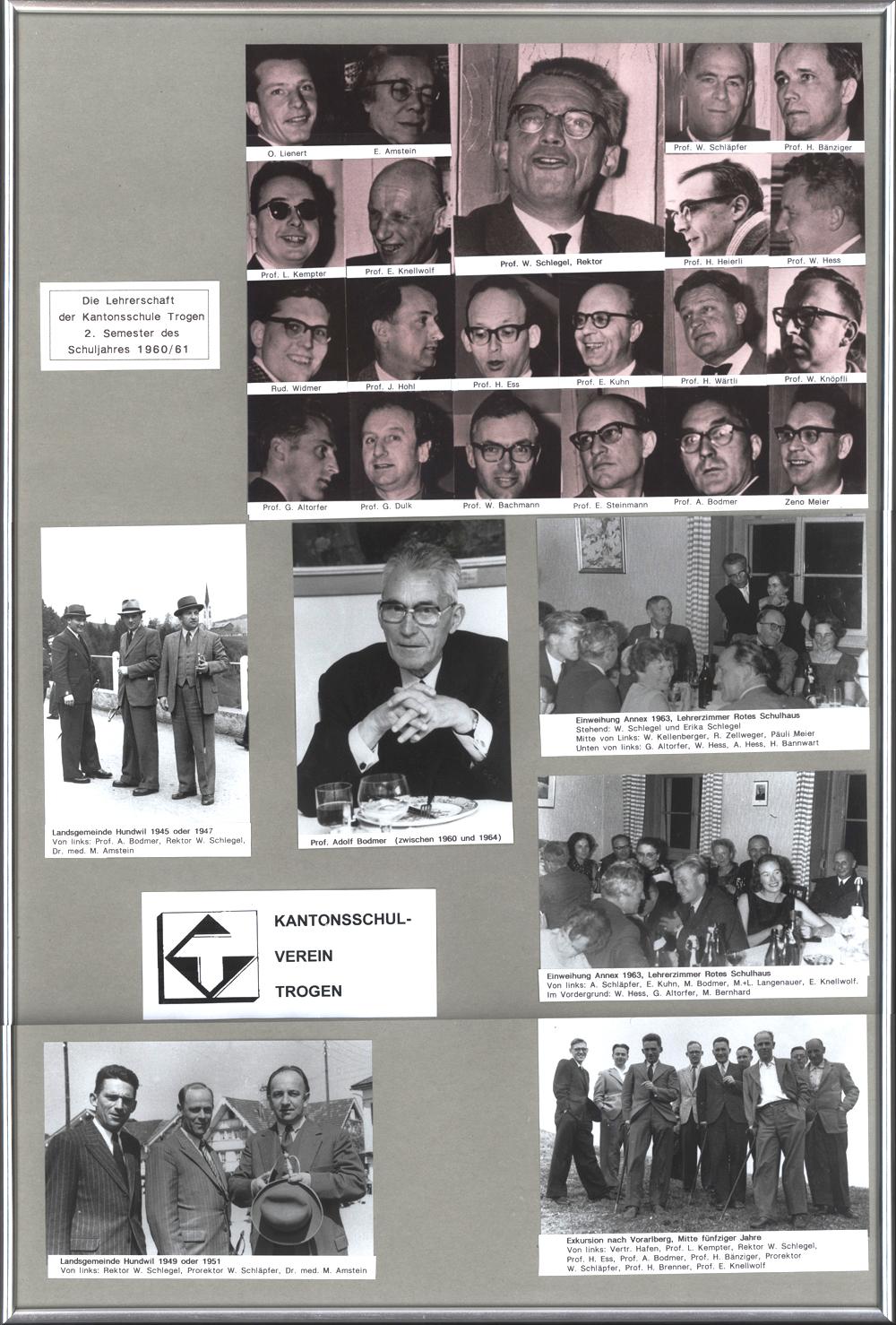 Kantonsschullehrer im Bild 1961