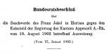 Beschwerde des Kurpfuschers Franz Jekel bezüglich Ausweisung