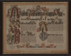 Osterschrift von J. Jacob Bruderer aus Gais