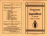 Programm für das Jugendfest in Herisau