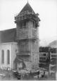 Entnahme der Männerglocke vom Kirchturm