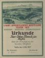 Urkunde für Oskar Moesch zur Mitarbeit an der Kantonalausstellung von 1937