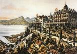 Walzenhauser Kurhotel mit Dépendance zur Blütezeit des Kurtourismus
