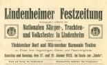 Lindenheimer Festzeitung