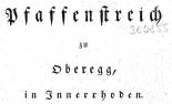 Pfaffenstreich in Oberegg