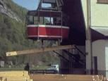 Bau der Einsiedlerklause im Wildkirchli - Bahntransport