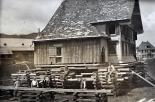 Verschiebung des alten Pfarrhauses in Schwende